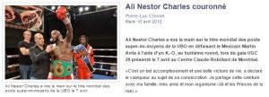 Ali Nestor Charles couronné