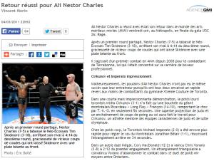 Retour réussi pour Ali Nestor Charles