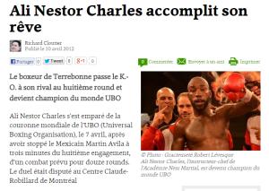 Ali Nestor Charles accomplit son rêve